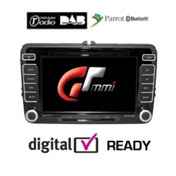 Golf 5 & 6 - Double Din Car DVD CD Player, GPS, iPod, Parrot Bluetooth, DAB Digital Radio
