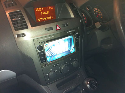 Reverse Camera Example In Vauxhall Zafira
