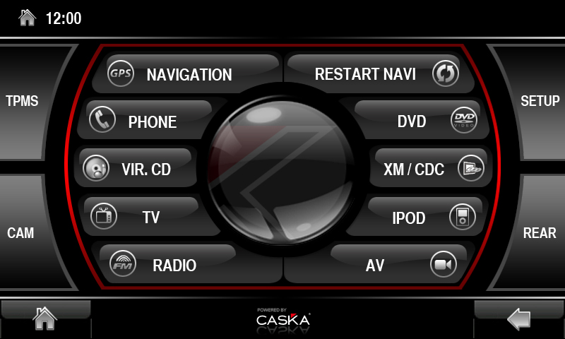Caska.co.uk - Caska Main Menu Interface