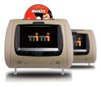 Headrest Monitors For Caska DVD Media Navigation Head Unit